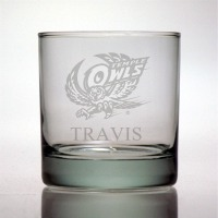 Temple University Owls Rocks Glass