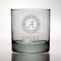 University of Alabama Crimson Tide Rocks Glass