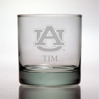 Auburn University Tigers Rocks Glass