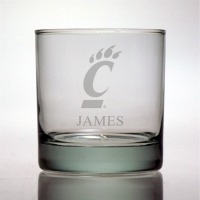 University of Cincinnati Bearcats Rocks Glass