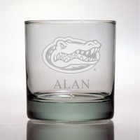 University of Florida Gators Rocks Glass