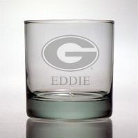 University of Georgia Bulldogs Rocks Glass