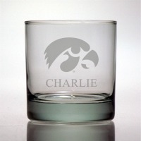 University of Iowa Hawkeyes Rocks Glass