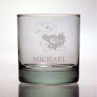 University of Kansas Jayhawks Rocks Glass