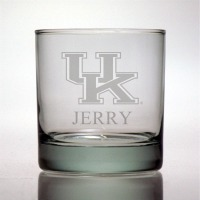 University of Kentucky Wildcats Rocks Glass