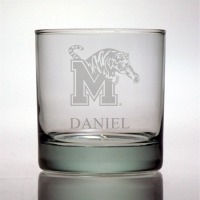 University of Memphis Tigers Rocks Glass