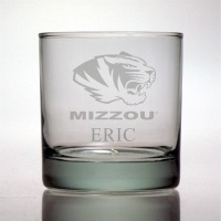 University of Missouri Mizzou Tigers Rocks Glass