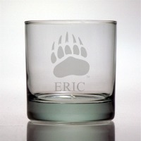 University of Montana Grizzlies Rocks Glass