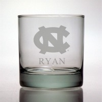 University of North Carolina Tar Heels Rocks Glass
