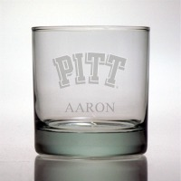 University of Pittsburgh Panthers Rocks Glass