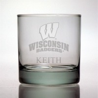 University of Wisconsin Badgers Rocks Glass
