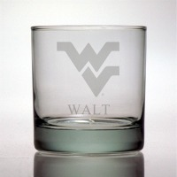 West Virginia University Mountaineers Rocks Glass