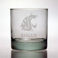 Washington State Cougars Rocks Glass