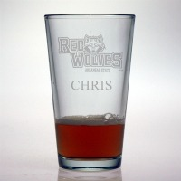 Arkansas State University Red Wolves Pint Glass