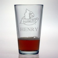 Louisville University Cardinals Pint Glass