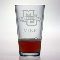 Marquette University Golden Eagles Pint Glass