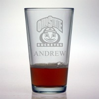 Ohio State University Buckeyes Pint Glass
