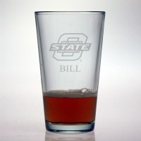 Oklahoma State University Cowboys Pint Glass