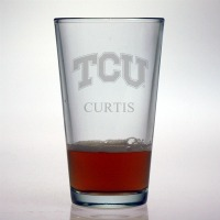 Texas Christian University Horned Frogs Pint Glass