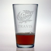 Temple University Owls Pint Glass