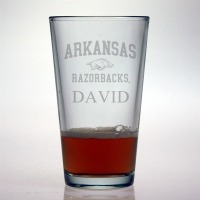 University of Arkansas Razorbacks Pint Glass