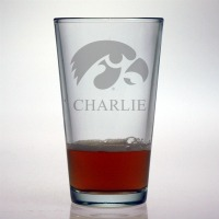 University of Iowa Hawkeyes Pint Glass