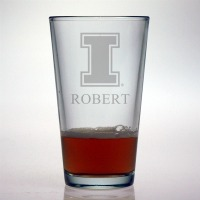 University of Illinois Fighting Illini Pint Glass
