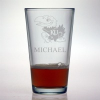 University of Kansas Jayhawks Pint Glass