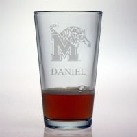 University of Memphis Tigers Pint Glass