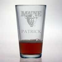 University of Maine Black Bears Pint Glass