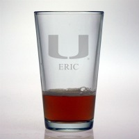 University of Miami Hurricanes Pint Glass