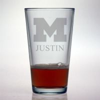 University of Michigan Wolverines Pint Glass