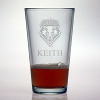 University of New Mexico Lobos Pint Glass