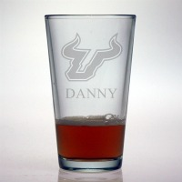 University of South Florida Bulls Pint Glass