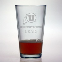 University of Utah Utes Pint Glass