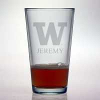 University of Washington Huskies Pint Glass