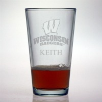 University of Wisconsin Badgers Pint Glass