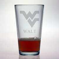 West Virginia University Mountaineers Pint Glass