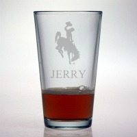 University of Wyoming Cowboys Pint Glass
