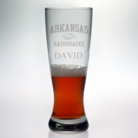 University of Arkansas Razorbacks Grand Pilsner Glass