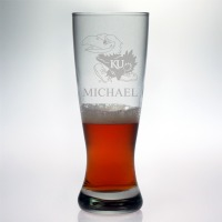 University of Kansas Jayhawks Grand Pilsner Glass
