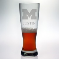 University of Michigan Wolverines Grand Pilsner Glass