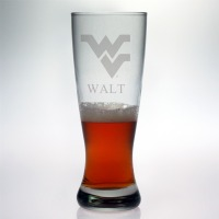 West Virginia University Mountaineers Grand Pilsner Glass