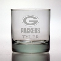 Green Bay Packers Rocks Glass