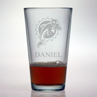Miami Dolphins Pint Glass