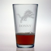 Detroit Lions Pint Glass
