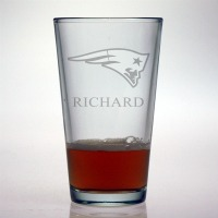 New England Patriots Pint Glass