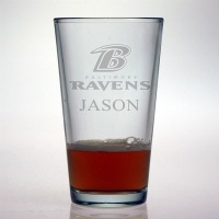 Baltimore Ravens Pint Glass