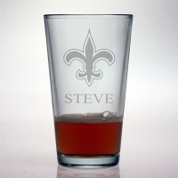 New Orleans Saints Pint Glass