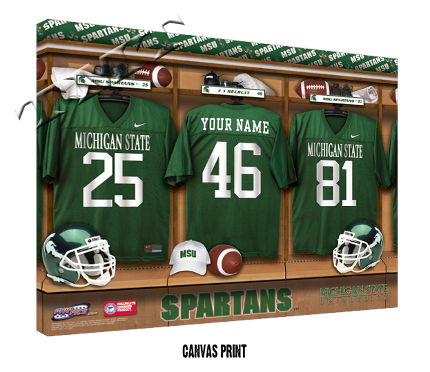 Football Man Cave Gifts : Ncaa football locker room teams on canvas man cave gifts